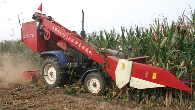 农哈哈4yb-3b背负式玉米收割机图片