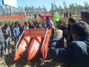 常林农装在吉林磐石市沭河玉米收获机现场演示会