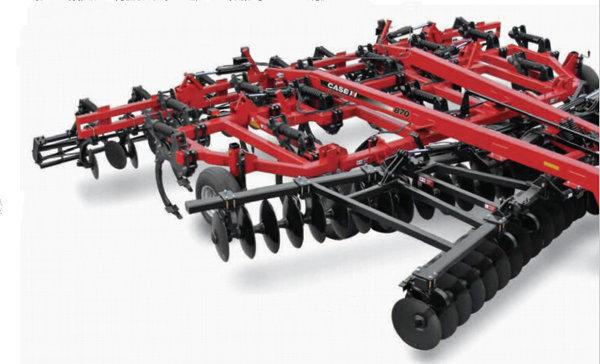 耙组形式安装的耙片 每个耙组具有多个c型挂架 土壤修整   液压耙片图片