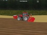 凯斯拖拉机和库恩型耙动画效果图