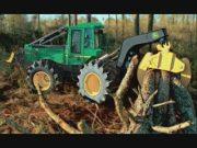 约翰迪尔林业机械图片视频