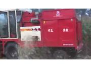 河北冀新4YZ-3三行玉米收割机作业视频