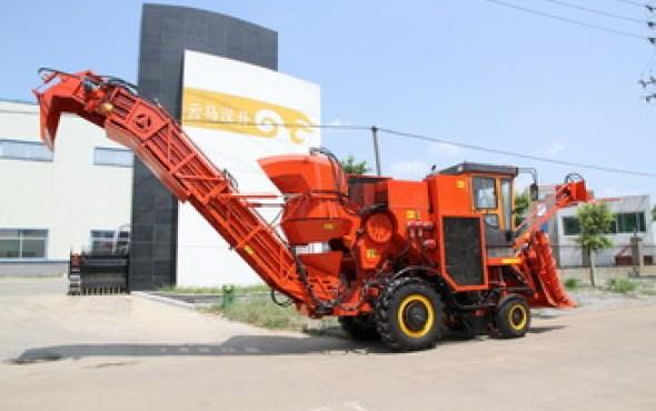 广西云马汉升4GQ-260型切段式甘蔗联合收割机视频