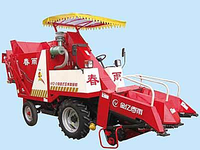 春雨4YZ-2型自走式摘穗型自走式玉米收获机