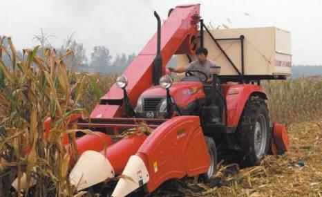 新三王4YD-3背负式玉米收割机