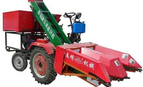 春明4YW-2背负式玉米收割机