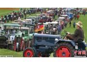 德国1000多辆拖拉机集合 欲创新吉尼斯世界纪录