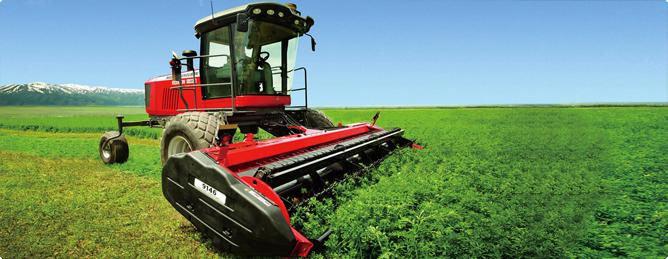 麦赛福格森牧草与秸秆收获设备-WR9740型自走式割草压扁机机