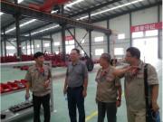 中国农业机械工业协会名誉会长高元恩到天津勇猛参观指导