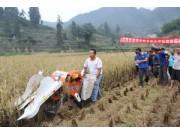 重庆武隆县举办水稻机收现场会