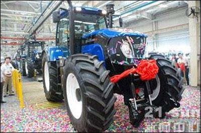 福田的2854和德国农具巨头雷肯合作