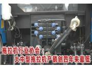 大中型拖拉机产销创四年来最低