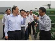 安徽省长王学军到中联重科诚信在线客服微信农机产业总部调研