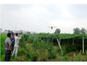 安徽潜山县举办植保飞机演示会