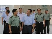 日照軍分區領導來五征調研民兵預備役建設工作