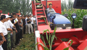 农哈哈4YB-3背负式玉米收割机