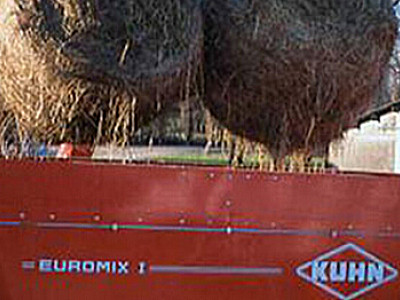 庫恩EUROMIX I 2570立式雙攪龍飼料攪拌機