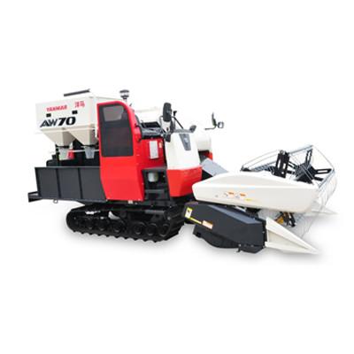 洋马AW70系列履带式全喂入水稻收割机