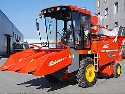 巨明新三行(3188)升级版玉米收割机
