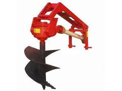 天津佳昊y6拖拉机带液压挖坑机