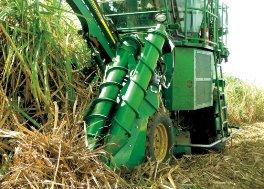 约翰迪尔(John Deere)CH330新型甘蔗收割机适用于倒伏甘蔗的特殊功能部件