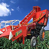 海伟加长小型玉米收割机