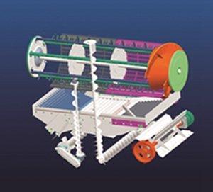 东华4LZ-2.5Z全喂入联合收割机脱粒系统