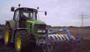 迪尔7430拖拉机与德国LEMKEN播种机作业视频