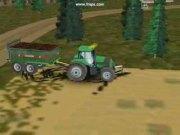道依茨165拖拉机配撒肥机模拟视频