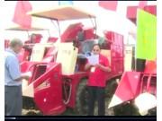 河北冀新牌玉米收割机演示会视频
