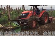邯武香蕉樹粉碎機作業視頻