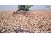 约翰迪尔3518配套【天人割台】收获倒伏玉米作业视频