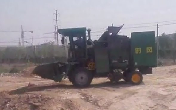 时风玉米收割机4YZP-3B路试视频