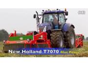 纽荷兰T7070洋葱收割机作业视频