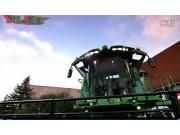 约翰迪尔S690收割机作业视频