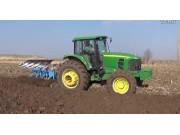 鄭州龍豐B系列450藍色柵條犁配套約翰迪爾1654高茬玉米地耕作視頻