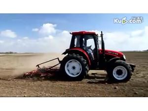 東方紅(YTO)X904拖拉機旱田作業視頻
