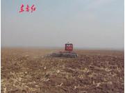 東方紅1002履帶拖拉機聯合整地作業視頻