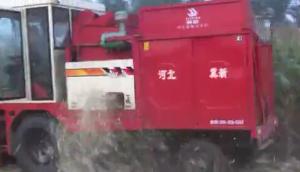 河北冀新4YZ-3三行玉米收割機作業視頻