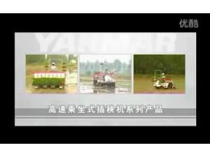 洋马高速乘坐式插秧机作业视频
